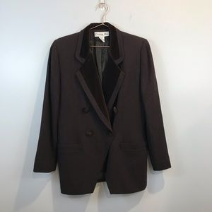 Christian Dior | Vintage Wool Brown Blazer